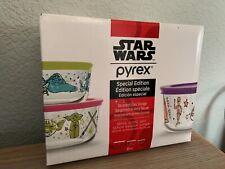 Pyrex Storage Star Wars Special Edition 6-pc Set Jabba, C3PO, Yoda, BB-8