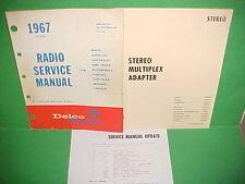 1967 CAMARO CHEVELLE FIREBIRD DELCO FM STEREO MPX ADAPTER RADIO SERVICE MANUAL