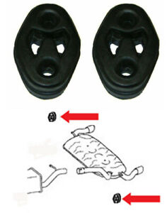 2x Exhaust Back Box Rubber Hanger Mounts For Ford Focus ST 225bhp MK2 MK3