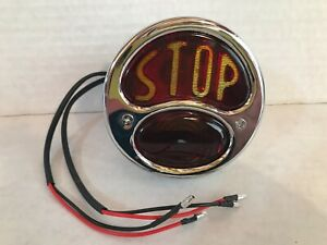 VINTAGE 1930'S STYLE AUTOMOBILE STOP LIGHT RED & AMBER GLASS UNUSED