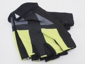 New! Castelli Half Finger Team Cycling Gloves Gry/Ylw/Blk Small Cannondale