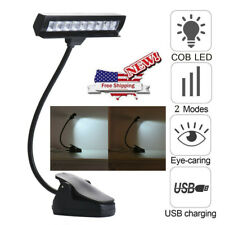 Flexible Usb Clip-On Music Piano 9 Led Light Reading Study Book Lamp Bed Table