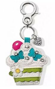 NEW Brighton Cupcake Key Ring Fob E1677M Leather NWT $50