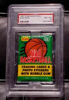 1987 Fleer Basketball Unopened Wax Pack Jordan 2nd Year? PSA 8 NM-MT Free SHIP