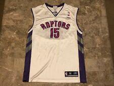 Vince Carter #15 Toronto Raptors NBA White Purple Red Reebok Jersey Adult Size M