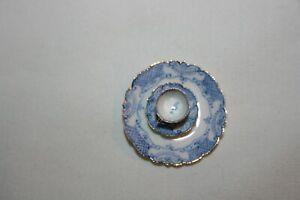 Miniature Dollhouse Theresa Welch China Closet Plate Tea Cup & Saucer 1:12 NR