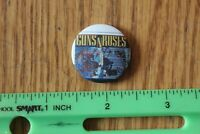 Rare Vintage Pin back button GUNS N ROSES band concert tour badge round