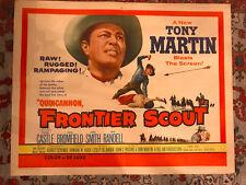 Quincannon, Frontier Scout 1956 United Artists western22x28halfsheet Tony Martin