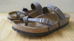 Birkenstock Mayari Taupe size 38 US 7M Sandals Toe Loop Slip On EUC