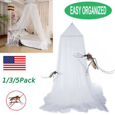 Mosquito Net Bed Queen Size Home Bedding Lace Canopy Elegant Netting W/Hanging