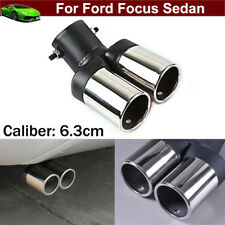 Double Outlets Exhaust Muffler Tail Pipe Tip Tailpipe For Ford Focus 2012-2018