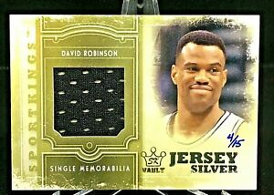 2012 Sport Kings #SM-09 David Robinson Game Used Patch Silver SP/15 (RARE,MINT)