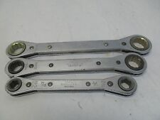 "3 MAC TOOLS RATCHETING WRENCHES 19/20 MM RWMI920-2 17/15 MM RWM1517-2 1/2"" 7/16"""