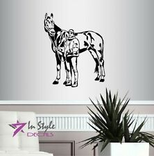Vinyl Decal Girl Woman and Horse Western Cowgirl Barrel Racing Wall Sticker 460