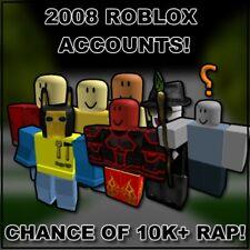 MEGA RARE 2008 ROBLOX ACCOUNTS     CHANCE OF RAP!   CHEAPEST ON MARKET!  