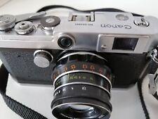 Canon L1 1957 rangefinder vintage film camera RARE, Industar 61 LD, ltm Leica