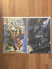 DC Justice League 1 Cover A & B Signed Scott Snyder COA