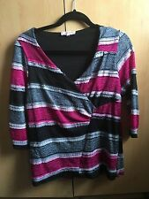 Per Una V Neck Stretch Striped Tops & Shirts for Women