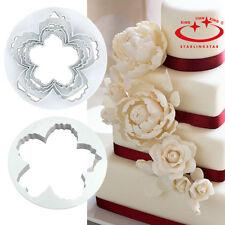 4pcs Peony Petal Mold Cutter Flowers Sugarcraft Cake Decorating Various Sizes