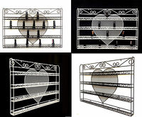 Metal Heart Wire Nail Polish Display Organizer Wall Rack-Hold 60 to 80 bottles