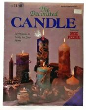 1995 VTG The Decorated Candle How-To Book Decoupage 38 Projects Whipped Wax 7483