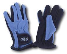 Kids Light Blue Embroidered Riding Gloves Size Medium Horse Tack
