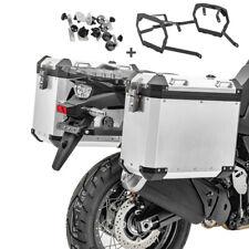 Alu-Koffer + Kofferträger für Honda Africa Twin CRF 1000 L 18-19 GX38 silber