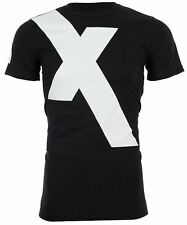 "Armani Exchange Mens S/S T-Shirt ""X"" LOGO Designer BLACK Casual S-2XL $45"