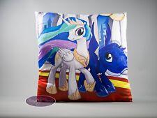 """My Little Pony Celestia & Luna  Pillow Case 40x40cm /16""""x16"""" Quality UK Stock"""