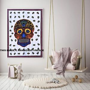 Skull Wall Tapestry Indian Wall Hanging Hippie Home Sofa Decor Tapestries Throw