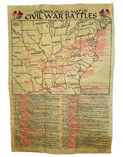American Civil War ACW Parchment Paper Civil War Battlefields Poster NEW
