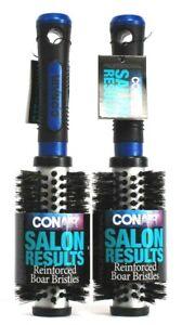 2 Conair Professional Salon Results Reinforced Boar Bristle Hairbrush Blue