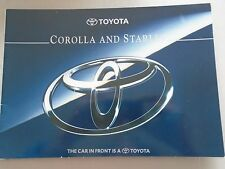 Toyota Corolla & Starlet brochure Apr 1995