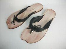MOMINO Mädchen Sandalette, Leder schwarz Größe 33