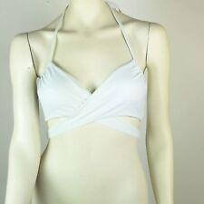 Victoria's Secret Size 34C Bikini Top Wrap Halter Solid White Underwire Padded