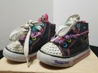 SKECHERS TWINKLE TOES TODDLER GIRL SHOES SIZE 5