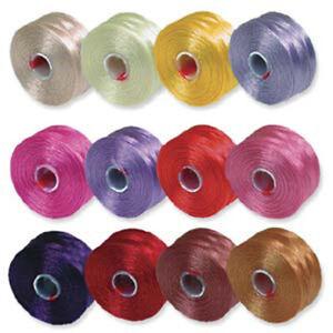 S Lon Beading Thread Size D Superlon Tex45 White Black 36 Colors to Choose