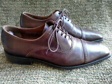 Calzoleria straight tip brown leather oxfords brogues Square cap toe size 12