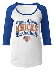 NWT NBA New York Knicks Women's Large 3/4-Sleeve Scoop Neck Tee Shirt