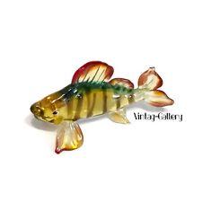 ART GLASS Miniature Striped Fish Handmade Multicolor 🐠Beautiful Miniature