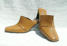Nicole Brakes Camel Tan Mules Slides Size 6 New 3 inch heels