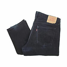 Vintage Levis 521 Jeans Faded Black Made in UK W37 L35