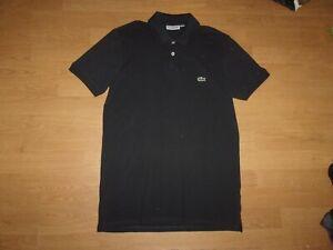Lacoste Slim Fit Navy Blue & Black mens polo shirt size 4 (medium)