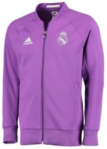 Adidas Purple Real Madrid Anthem Full-Zip Jacket, Brand New , Men Size L