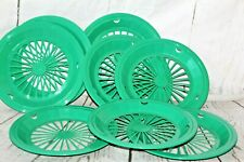 Vtg Packerware USA Plastic Paper Plate Holders/Trays Picnic BBQ Camping Set of 8