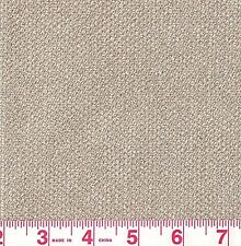 P Kaufmann Beige Solid Woven Chenille Upholstery Fabric Dazzle Hemp Bty