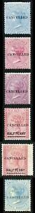 Mauritius QV Selection of stamps opt Cancelled (some with no gum)