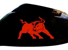 Bull Raton Car Sticker Wing Mirror Styling Decals (Set of 2), Red