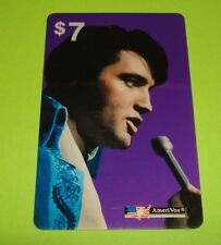 Really Cool 1970 Las Vegas Photo ELVIS PRESLEY $7 AmeriVox Phone Card from 1993