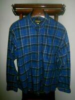 CABELA'S 2XL 100% Cotton Long Sleeve Button Down Collar Plaid Shirt -FAST SHIP-
